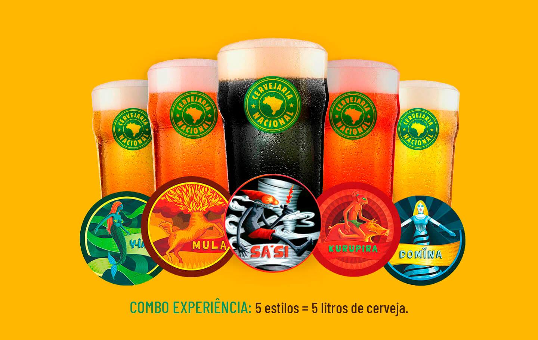 Combo experiência: 5 estilos (1 litro de cada) = de R$170,00 por R$121,00